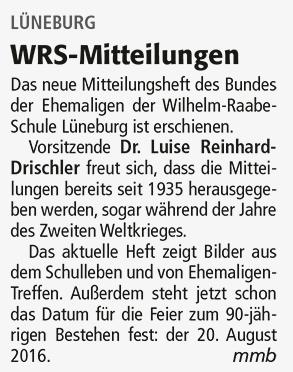 WRS-Mitteilungen