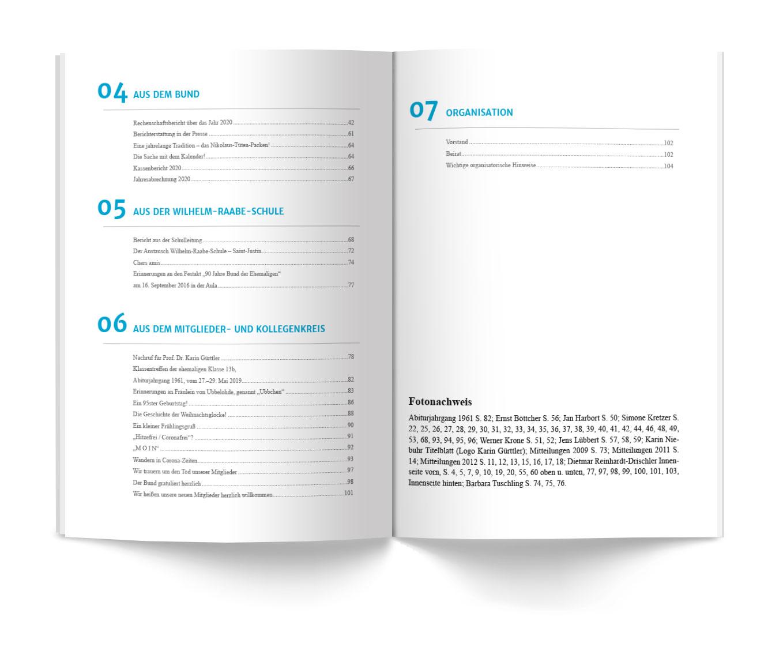 Inhaltsverzeichnis Mitteilungen 2016